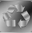 Metal recycle sign vector image vector image