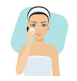 Skin care - lotion vector image