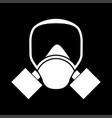 gas mask white color icon vector image