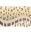 music notes piano vector image vector image