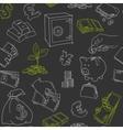 Money symbols doodle sketch seamless vector image