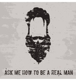 Beard concept vector image