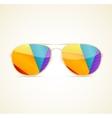 Aviator Sunglasses Gold Concept vector image