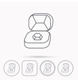 Brilliant jewellery icon Engagement sign vector image