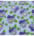 Blue pansies seamless background vector image