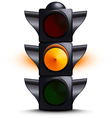 Traffic light on yellow vector image