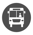 bus round icon vector image