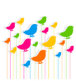 colorful bird design pattern background design vector image