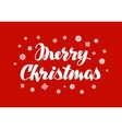 Merry Christmas greeting card Xmas handwritten vector image