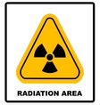 Octagon yellow and black caution with radiation vector image