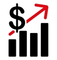 Sales Growth Icon vector image