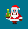 santa claus on white background for vector image