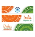 Set of watercolor banners Indian Flag for vector image