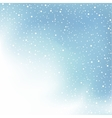 winter day snow and cloud vector image