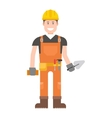 Worker man character vector image