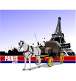 6229 paris trip vector image