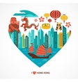 Hong Kong love background and vector image