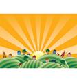 agricultural landscape vector image vector image