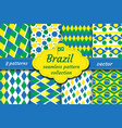 brazil set of abstract geometric pattern vector image