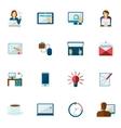 Freelance Icon Flat Set vector image