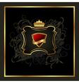 golden vintage with heraldic elements - vector image