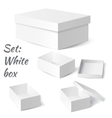 Set White box vector image