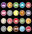 Summer icons with long shadow vector image