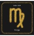 Virgo Zodiac sign of gold glitter Symbol for vector image
