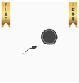 Flat Icon of egg and spermatozoon vector image
