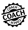 Coach rubber stamp vector image vector image