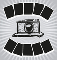 Camera and photos vector image vector image