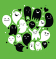 ghosts family vector image