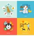 Dog Icons Flat Set vector image
