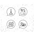 cleaning services spray and plunger icons vector image