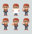 excellent student genius school clever smart boy vector image