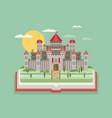 fairy-tale castle flat vector image