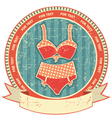 Lingerie label on old paper textureVintage retro vector image