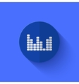 modern flat blue circle icon vector image