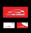 Red car logo design vector image