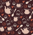 Seamless sweet tea pattern vector image