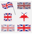 Set with Flags of United Kingdom vector image