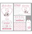 Wedding invitationBride onretro bikePink decor vector image vector image