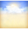 Blue sky background with white clouds and sun vector image