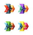 collection of colorful geometric shape vector image vector image