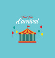 the carnival funfair background style vector image