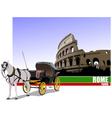 6229 rome trip vector image