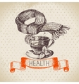 Sketch healthy and medical background vector image vector image