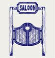 Old western swinging saloon doors vector image