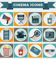 Cinema colorful icon set vector image