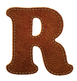 Leather textured letter R vector image vector image